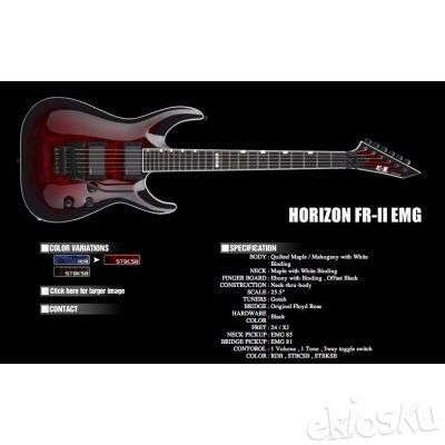 Esp E-II Horizon FR-II SEE THRU BLACK CHERRY