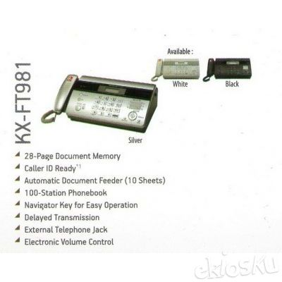 Fax - Panasonic - KX-FT981