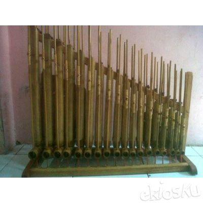 Angklung 18 Nada Bambu Putih