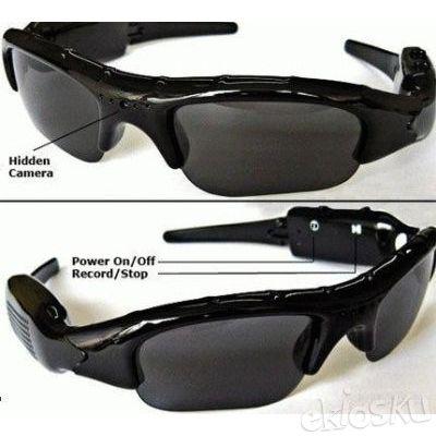 Spy Cam Kacamata Sunglass Hitam (Slot Micro SD)
