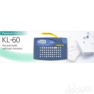 Casio - Label Printer - KL 60 (1 clear tape and 6 Batteries @ Retail 3500 Each included)