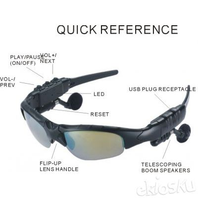 Kacamata Mp3 Keren Dengan Kapasitas 4GB