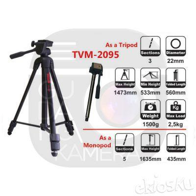 2 IN 1 TRIPOD/MONOPOD TAKARA TVM-2095
