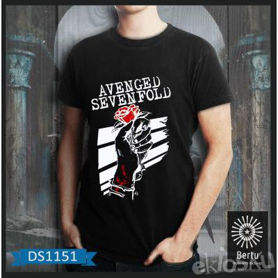 T-shirt Pria Avenged Sevenfold Blood Rose