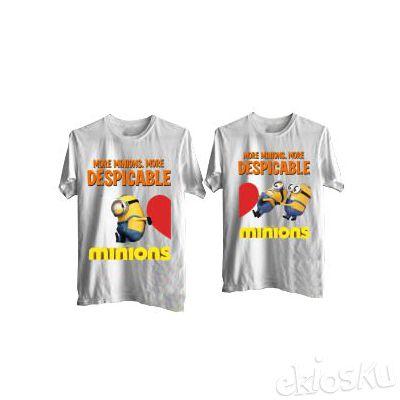 Kaos Couple Love Minion