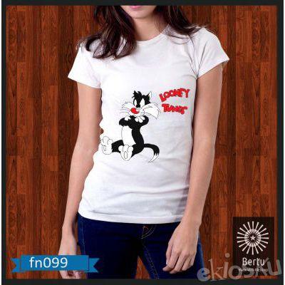 Kaos Wanita Bad Sylvester Looney Tunes Kode : FN099