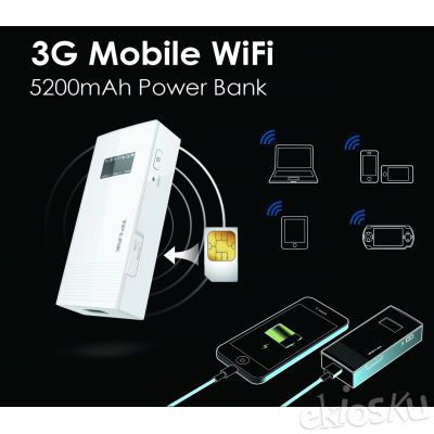 TP-LINK M5360 3G Mobile Wifi + Power Bank