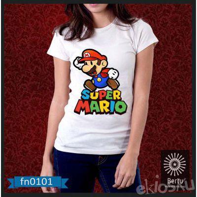 Kaos Wanita Super Mario Kode : FN0101