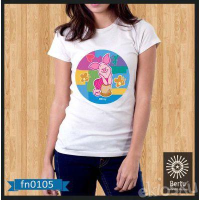 Kaos Wanita Piglet Best Friend Winnie The Pooh Kode : FN0105
