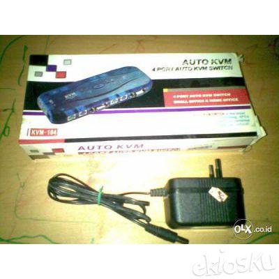 Kvm Switch 4 Port + Adaptor ( Daerah Dago Bandung )