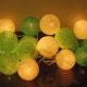 Lampu Natal LED cotton ball light green tone