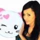 Bantal Karakter Lucu Cuddly Cat