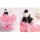 DC.B115 Doll Bouquet 2 Bears 19 Flowers