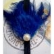 headband blue feather