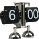 Balance Shaped Metal Auto Flip Down Clock