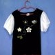 T-Shirt Gymboree Flower 01 Black