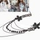 Fashion Elegant flowers Multi necklace
