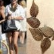 Korean retro fashion carve leaf necklace