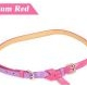 Korean fashion two candy color matching thin belt (plum red)