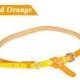 Korean fashion two candy color matching thin belt (Red orange)
