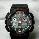 G-Shock GA100 Black Red