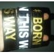 Wristband BORN THIS WAY GOLD BLACK